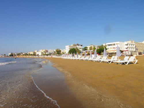 главный пляж в Кызкалеси Kizkalesi