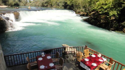 ресторан с видом на Манавгат водопад selale Manavgat