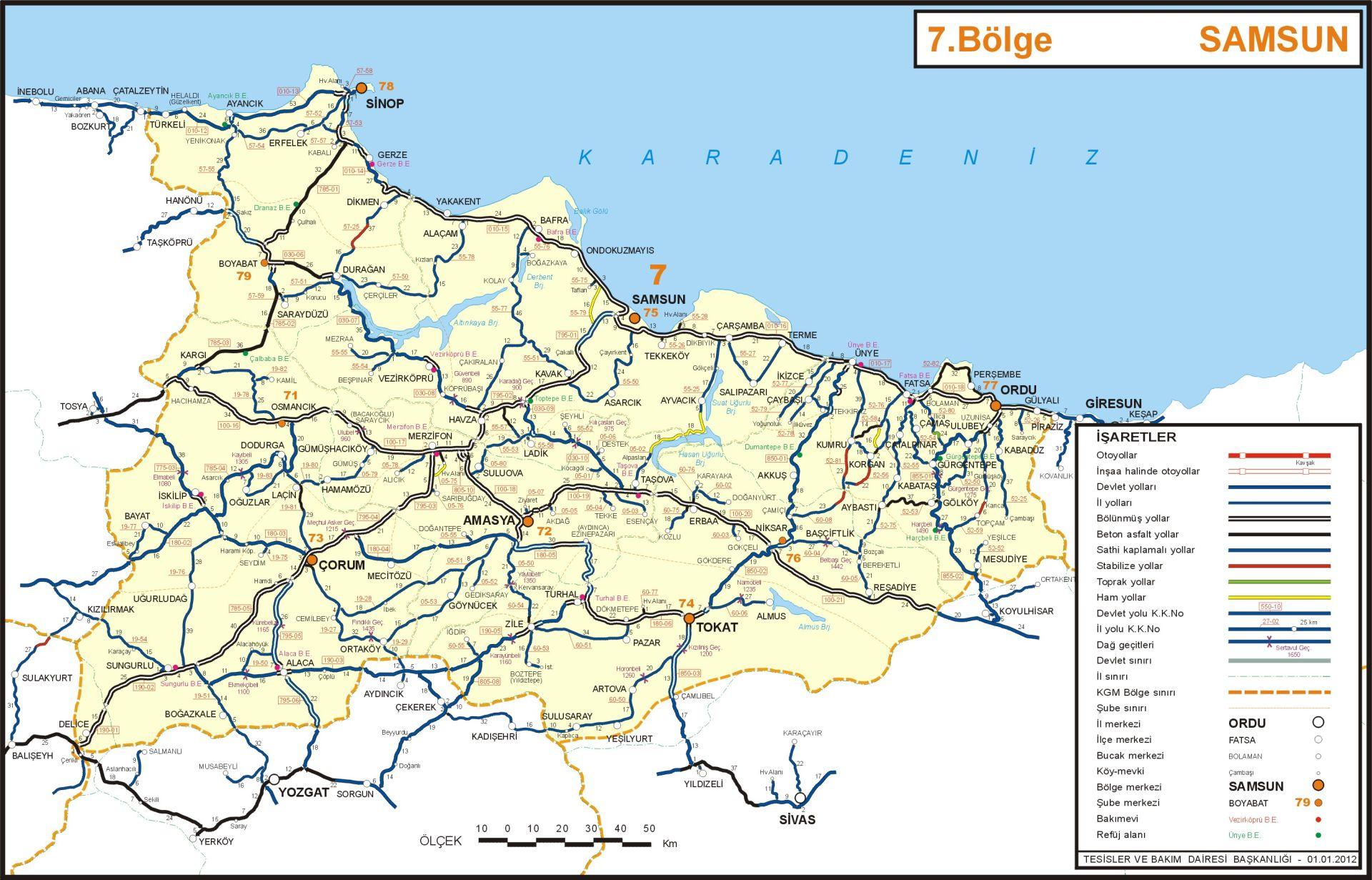 Иль Амасья Карта Турция