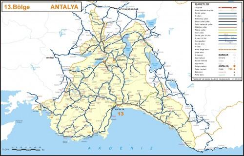 иль Анталья карта Турция