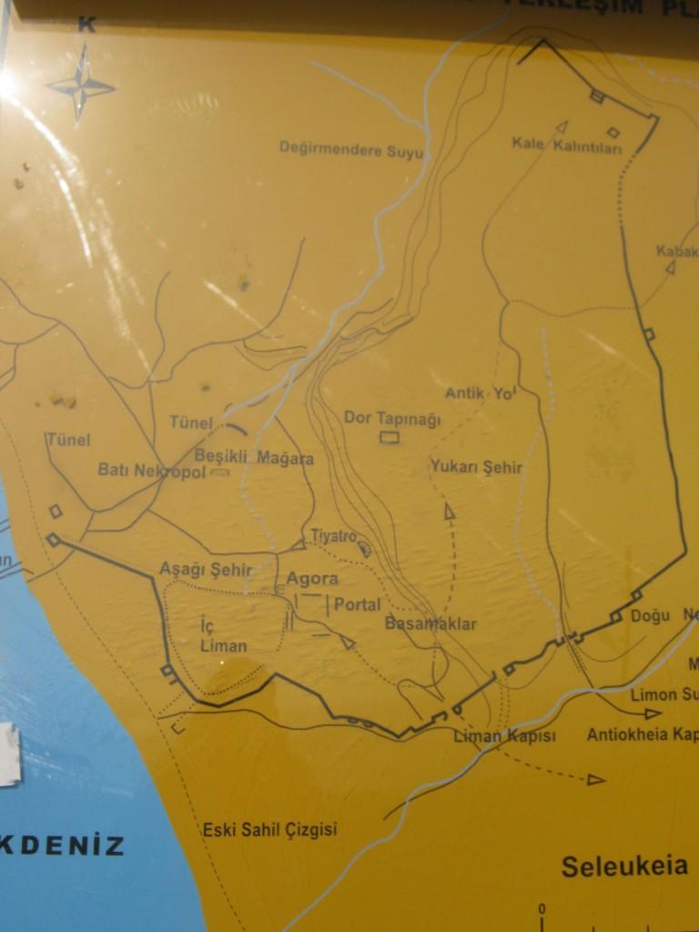 Чевлик Турция достопримечательности карта Селевкия Пиерия