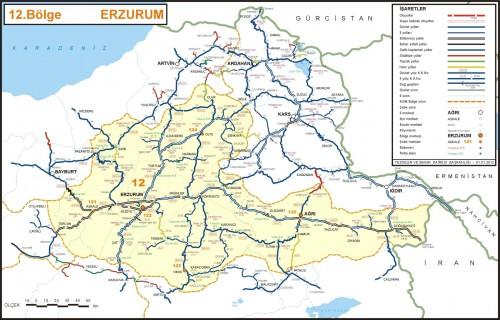 Иль Эрзурум карта Турция