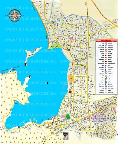 карта Фетхие достопримеательности Турция