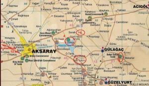 Каппадокия Турция карта