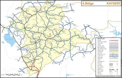Карта Турция ил Кайсери