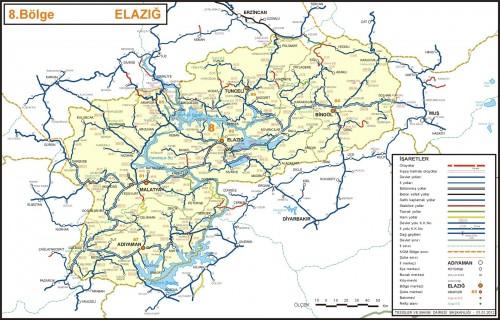 иль Элазы Турция карта