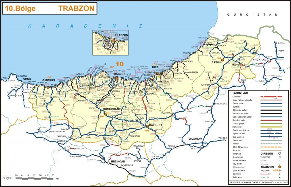 Тразон иль карта Турция