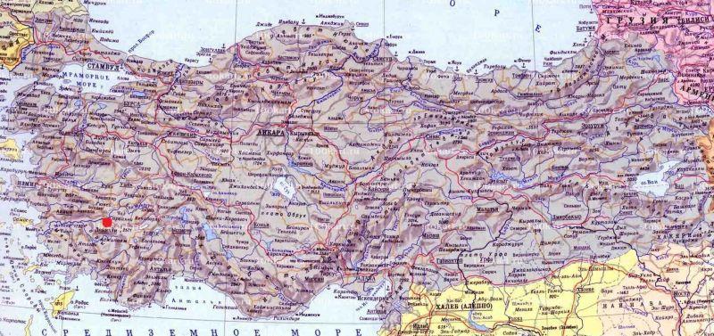 Карахайыт на карте Турции