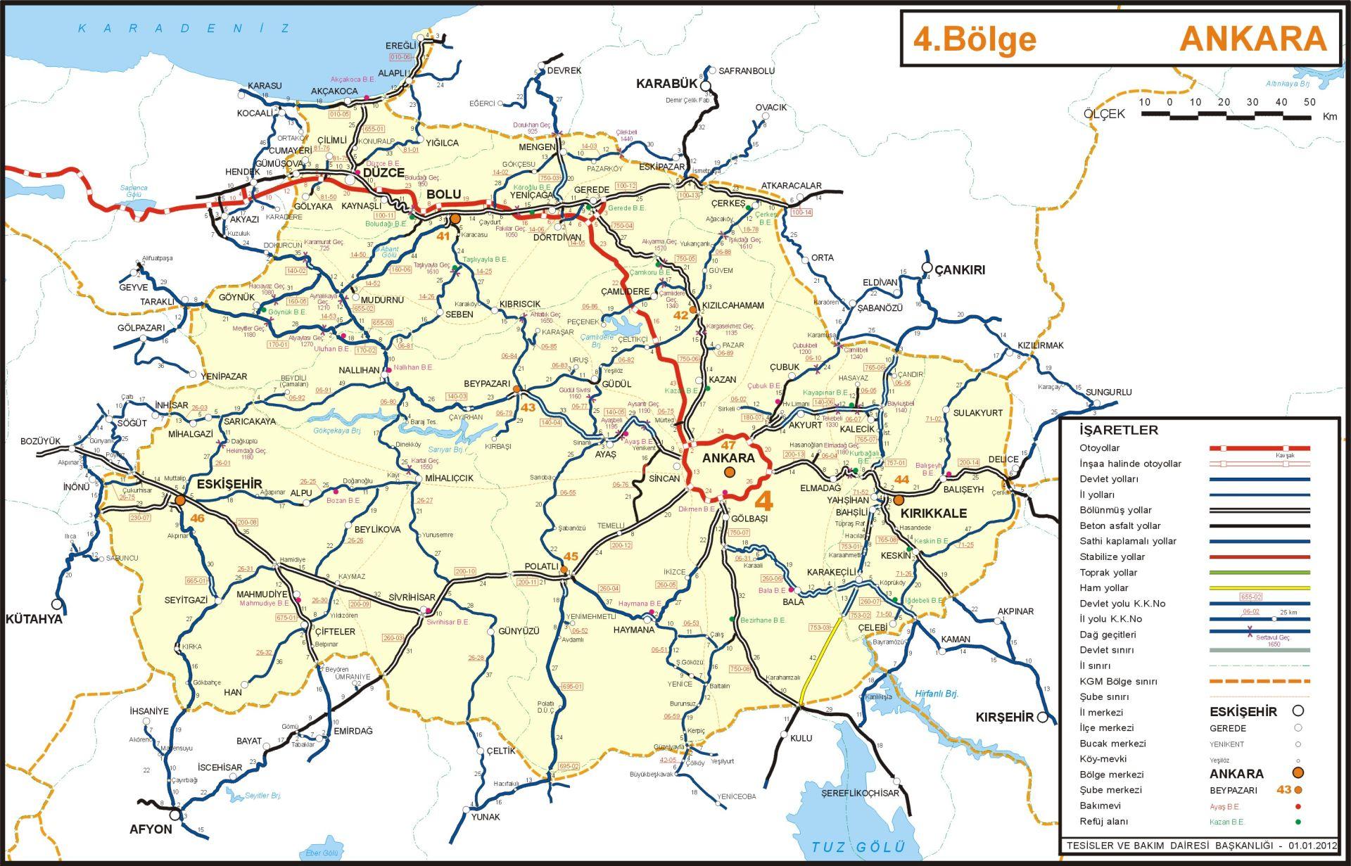 Иль Анкара Турция карта