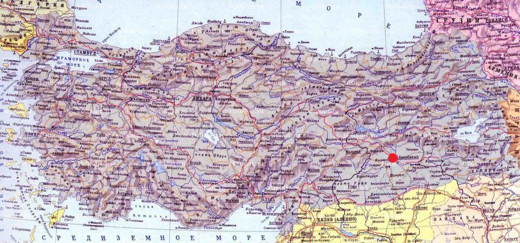 диярбакыр на карте турции