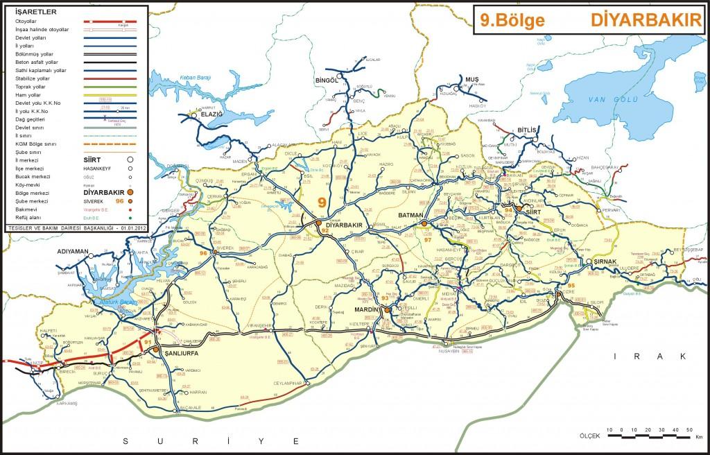 Карта иль Диярбакыр Турция