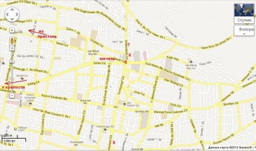 Карта центра города Ван