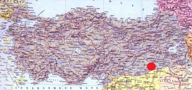 Мардин на карте Турции