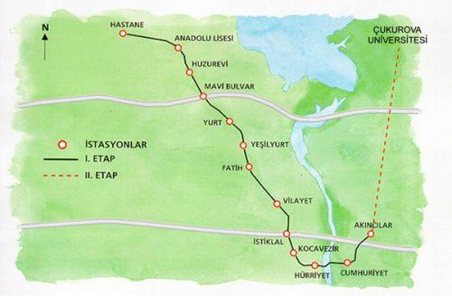 схема метро Аданы