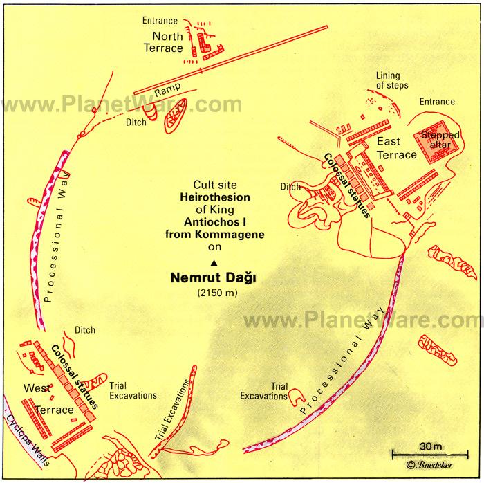 гора Немрут карта
