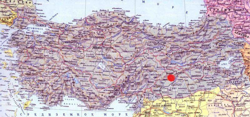 Немрут даг на карте Турции