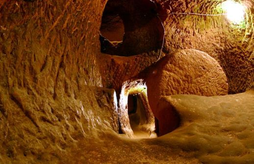подземный город Озконак Каппадокия