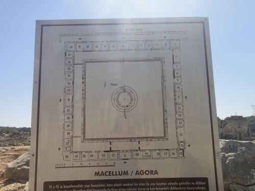 план агоры в Перге