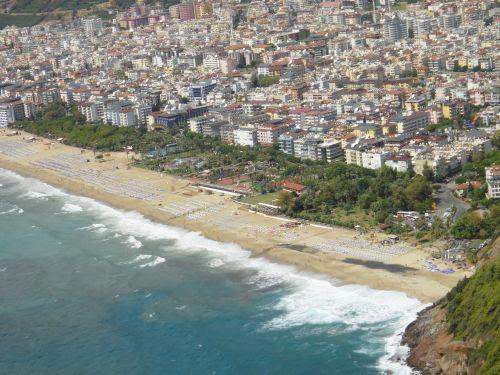 пляж Клеопатра вид с крепости