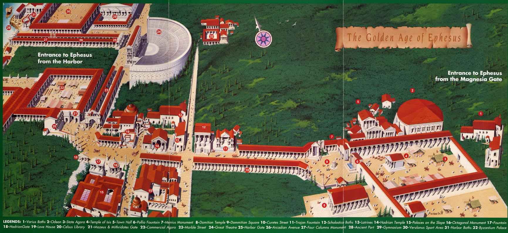 Эфес карта план