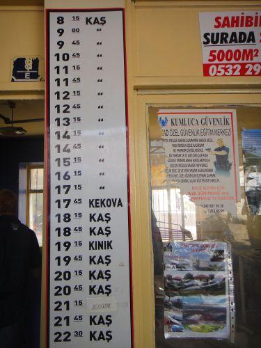 Расписание автобусов Демре - Каш