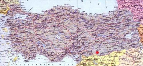 Шанлыурфа на карте Турции