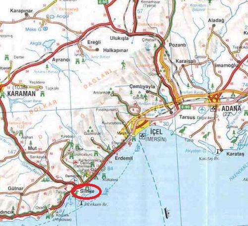 силифке на карте турции