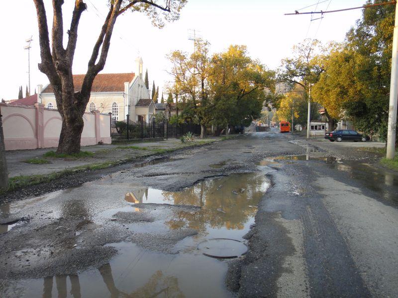 дороги в Сухуме Абхазия