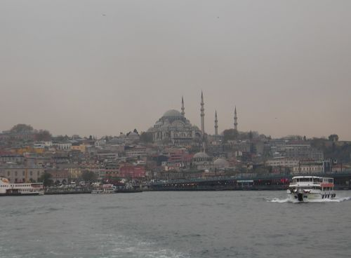 мечеть Сулейманийе вид с Золотого рога