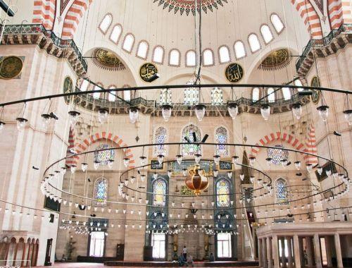 мечеть сулеймание интерьер