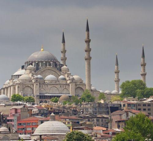 вид на мечеть сулеймание