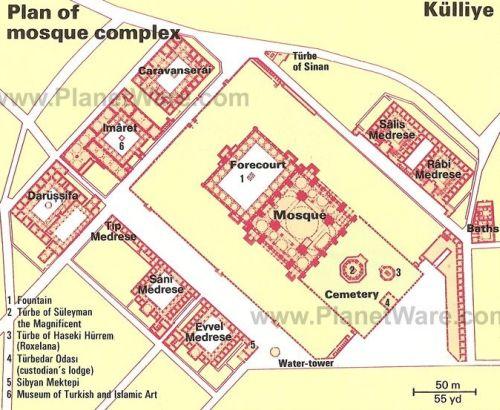план мечеть сулеймание