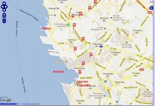 как добраться от Таксима до Кадыкея