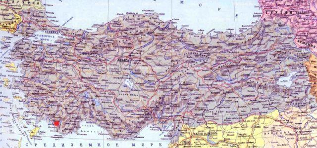 Тлос Саклыкент на карте Турции