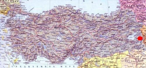крепость Хошап на карте Турции