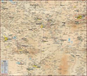 Кайсери в на карте Каппадокии