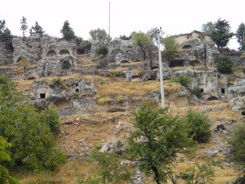 Узунджабурч uzuncaburc некрополь