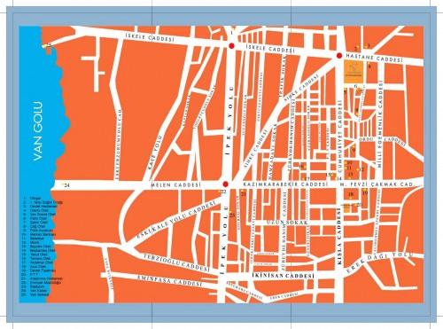 Карта отелей и пансионов Вана