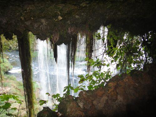 анталья водопад верхний дюден из тоннеля